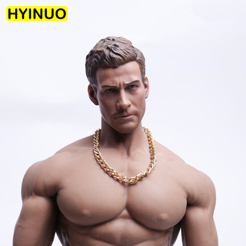 3 Models 1/6 Scale Necklace Men Fashion Trend Big Gold Chain Male Metal Jewelry Playing Toy For 12
