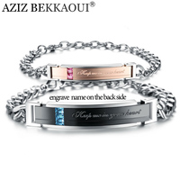 Stainless Steel Bracelets For Women Men Fashion Jewelry Keep Me In Your Heart Crystal Couple Bracelets