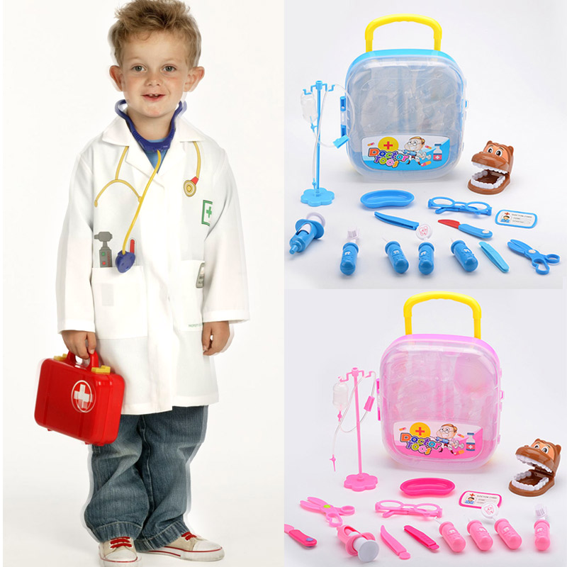 15pcs/Set Doctor Play Toys Set for Child Medical Kit Baby Educational Box Role Pretend Toy Gift -17 AN88