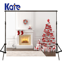 Kate Photography Backdrops 10X10Ft Christmas Backdrops Decorative Fireplaces Background Room Backdrop For Studio Backgrounds