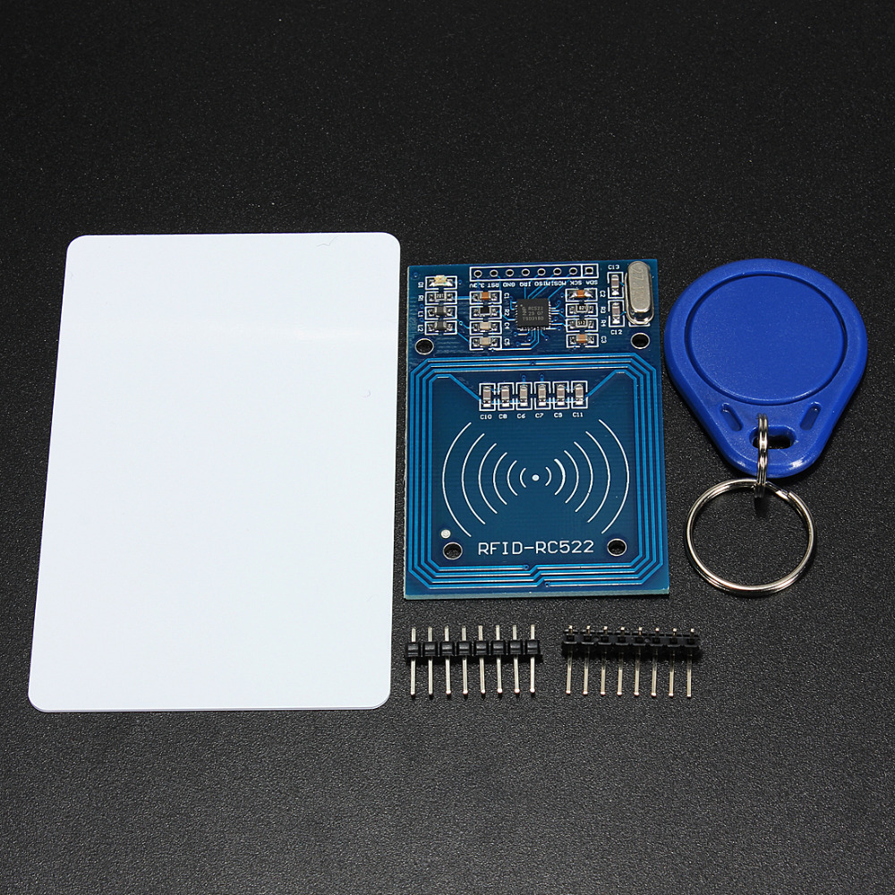 1 Set MFRC-522 RC-522 RC522 RFID Wireless IC Module S50 Fudan SPI Writer Reader Card Key Chain Sensor Kits 13.56Mhz For Arduino