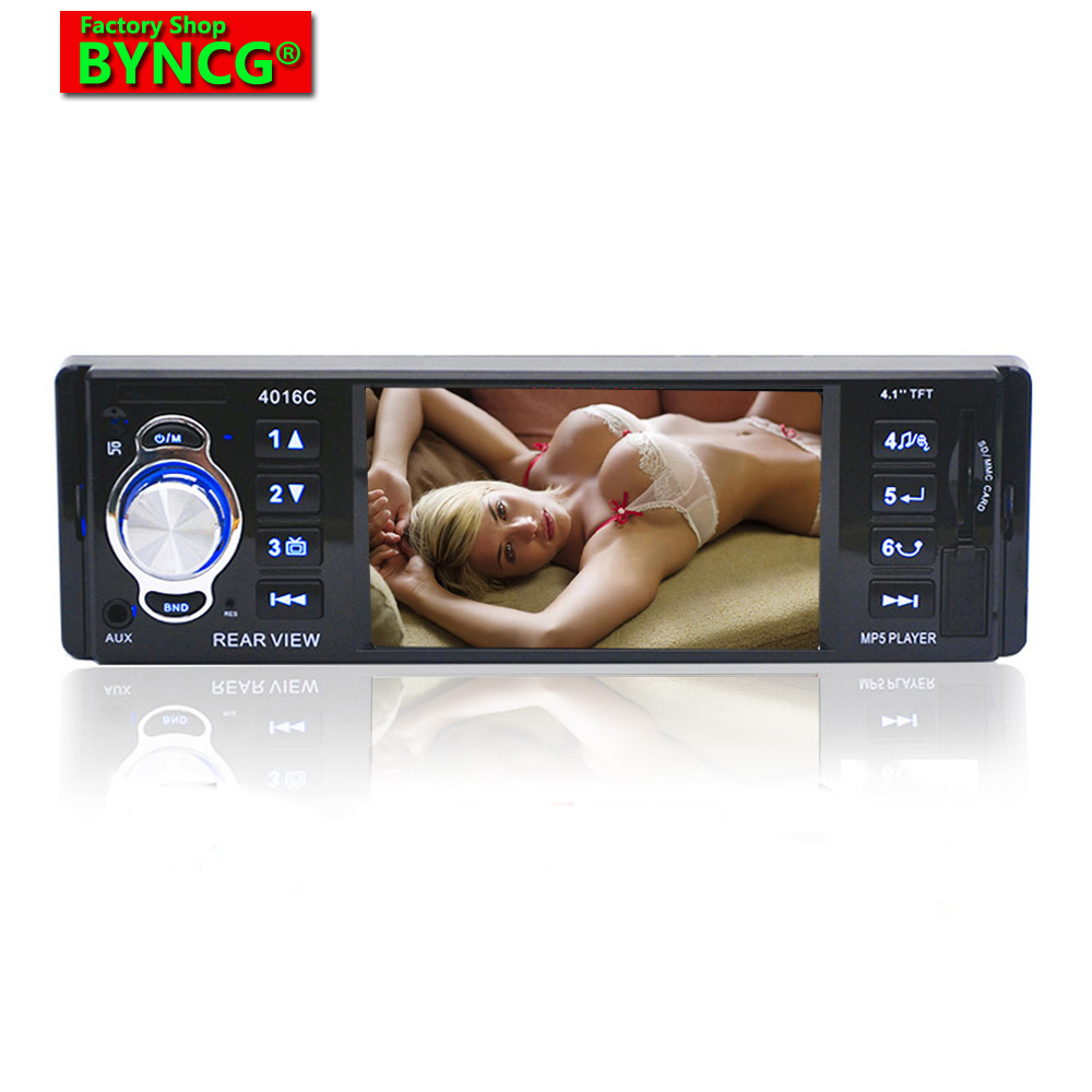 BYNCG 4016C Hot Sale 1 Din Car MP5 Player 4.1 HD Display Car Audio Video autoradio MP5 Player with FM USB SD AUX Ports