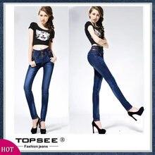 Fashion 2016 New Korean Style Slim Women Jeans High Waist Patchwork Trousers Button Plu Size Pencil Pants Women Denim A3003