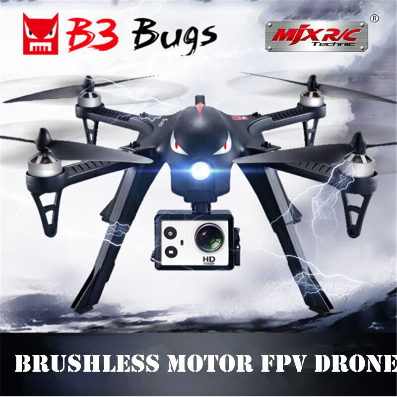 MJX B3 Bugs 3 RC Drone Helicopter Brushless Motor Remote Control Quadcopter with Camera Mount for Gopro/Xiaomi/Xiaoyi Camera mjx bugs 3 rc quadcopter rtf black
