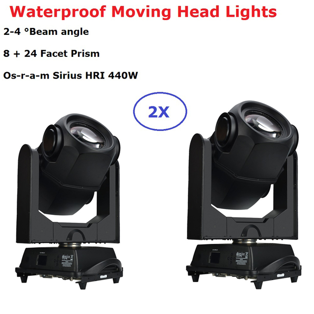 2Pcs/Lot Professional Outdoor Stage Lights IP65 440W 20R Beam Spot Moving Head Lights DMX Moving Head  For Dj Light Stage Lights