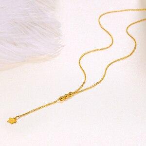 Image 3 - 24 18k 純金ネックレスリアル au 999 純金チェーン美しい葉高級流行の古典的なパーティーファインジュエリーホット販売新 2020