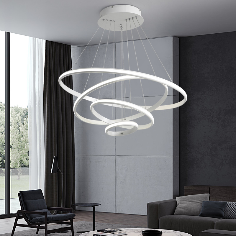 AC85-265V Ring circles modern led pendant lights for dining living room bedroom decor lighting fixtures DIY hanging pendant lamp бордюр atlas concorde admiration crema marfil spigolo 1x20