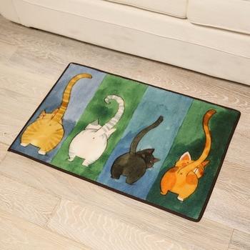 ใหม่ Creative Cat Bath Mat พรมห้องน้ำ, คุณภาพสูงพรมกันลื่นเสื่อห้องน้ำ, ห้องน้ำเสื่อและพรม Alfombra