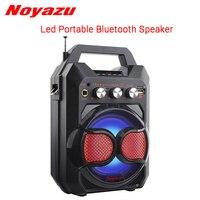 Noyazu Portable Wireless Bluetooth Speaker Mini Loudspeaker Flashing Lights LED Speaker FM Recorder Support TF Card USB Play