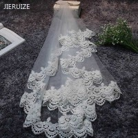 In Stock Free Shipping Lace Edge 1 5 M Long Wedding Veils High Quality Cheap Bridal