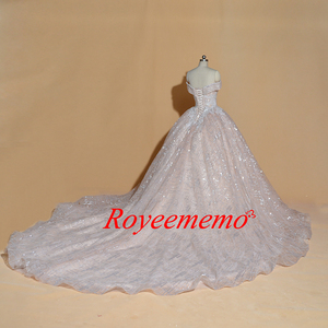 Image 5 - Vestido דה Noiva כבוי כתף חתונת שמלת וינטג Robe De Mariage מיוחד תחרה עיצוב מבריק לוקסוס חתונה שמלת מפעל