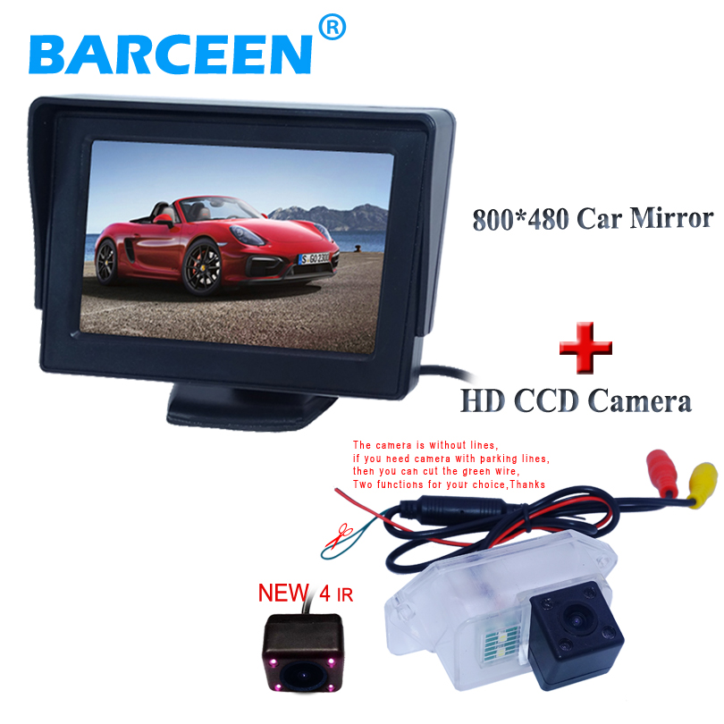 Universal car monitor 4.3 and shckproof with watrproof glass lens car reversing camera use for Mitsubishi Lancer