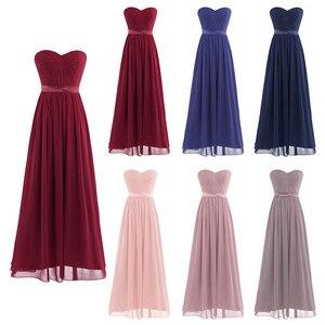Image 2 - Dusty Rose Mooie Geplooide Hoge Taille Bruidsmeisje Jurk Elegante Prachtige Sexy Strapless Lange 2020 Nieuwe Collectie Wedding Party Dress