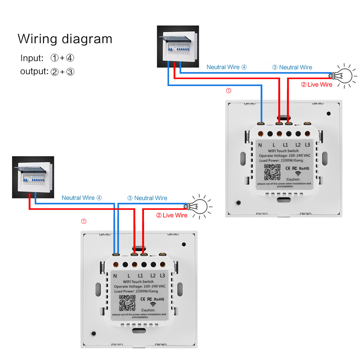 Smart Wifi Switch Double Control 1 2 3 Gang Wall Wireless Wiring Diagram Ewelink App Compatible With Alexa Google Assistant Ifttt In Switches From Lights