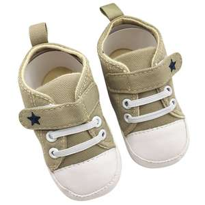 Infant First Walkers Toddler Baby Shoes Soft Sole Crib Shoes No-Slip Canvas Sneaker