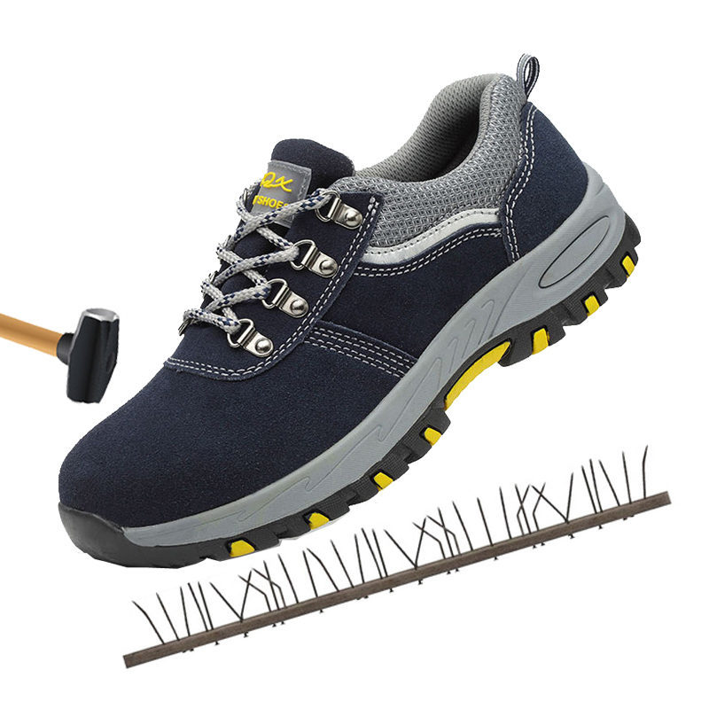 Steel toe safety shoes anti-smashing anti-slip work shoes breathable safety boots