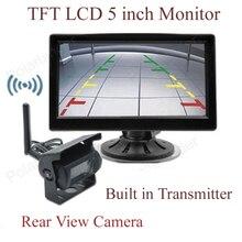 TFT lcd беспроводной 5 дюймов монитор для автомобиля камера заднего вида парковочный комплект 2CH видео вход встроенный передатчик 2 24 в автомобиль грузовик