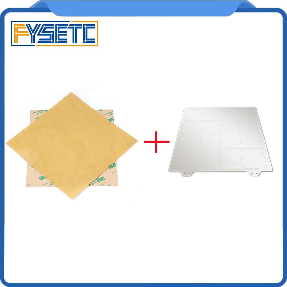Spring Steel Sheet Heat Bed Platform 3D Printer Printing Buildplate + 2pcs PEI Sheet For Creality Ender-3 TEVO Tornado Lulzbot