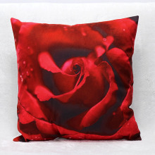 3D Printed Red Rose Decorative Pillow