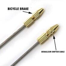 Велосипедный тормозной кабель для велосипеда, наконечники для велосипедного переключателя, заглушки для кабеля, сердцевина, Внутренний провод, наконечники