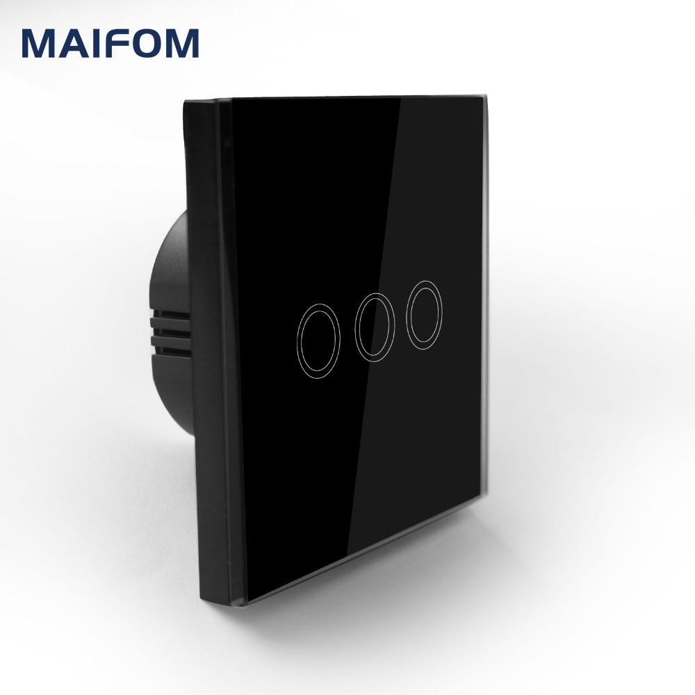 EU/UK RF433 Touch schalter Fernbedienung MAIFOM 3 Gang 1 2 wege wand ...
