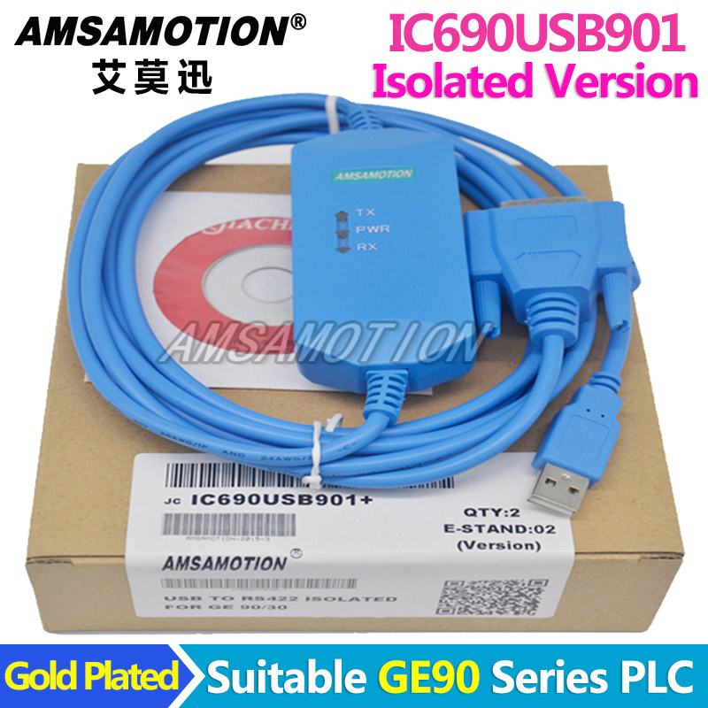New IC690USB901 Suitable for GE90-30 GE90-70 Series PLC Cable USB Cable