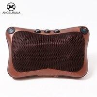 Angelruila Car Home Massage Pillow For Neck Back Waist Body Electric Infrared Heating Shiatsu Massage Kneading