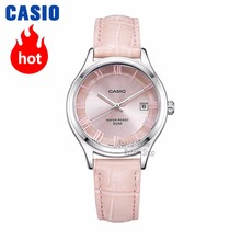 Casio watch Analogue Womens Quartz Watch Elegant Simple Leather Strap Steel Belt Waterproof Pointer  LTP-E142