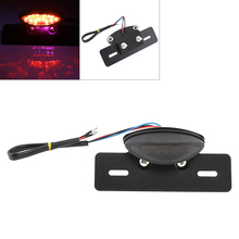 Motorcycle Brake Light 12V Smoked Lampshade Red Flash  LED Taillight for Off Road Vehicles ATV Motorbike