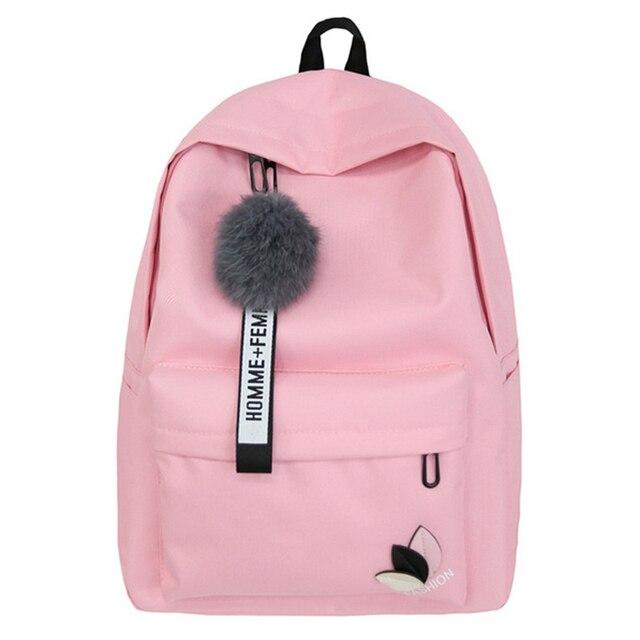 94b61b9a7e80 Модная школьная сумка для девочек с листьями и буквами, рюкзак для девочек- подростков,