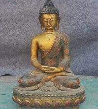 20 «Тибет Буддизм Перегородчатые Свинка Шакьямуни Шакьямуни Татхагата Статуя Будды