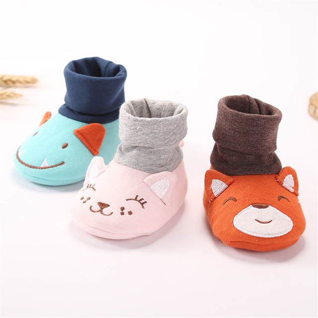 2017 Cute Winter Baby Home Slipper First Walker Shoes Newborns Warm House Slippers Boys Girls Toddler Animals Babe Shoes 70A1031