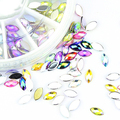 New Arrival 12 Mixed Colors Wheel Design 3D Nail Art Tip Charm Rhinestone Jewelry DIY Tools