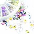 Nueva Llegada 12 Colores Mezclados Rueda Diseño 3D Uñas de Arte Consejo Rhinestone Del Encanto de la Joyería Herramientas de BRICOLAJE