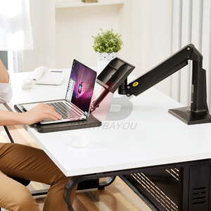 Image 5 - NB FB17 Full Motion SIT Standโต๊ะพับแก๊สฤดูใบไม้ผลิแขน 11 17 นิ้วแล็ปท็อปผู้ถือขาตั้งโน้ตบุ๊คRiserถาดคีย์บอร์ดLapdesk
