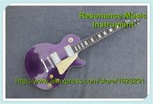 Neue Ankunft Lila EPI LP Standard Gitarre Mit Weißen Verbindlich Benutzerdefinierte Gitarre & Kit Verfügbar