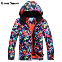Gsou Snow High Quality Ski Jackets Men Windproof Warm Coat Male Waterproof Riding Skiing Snowboard Jacket