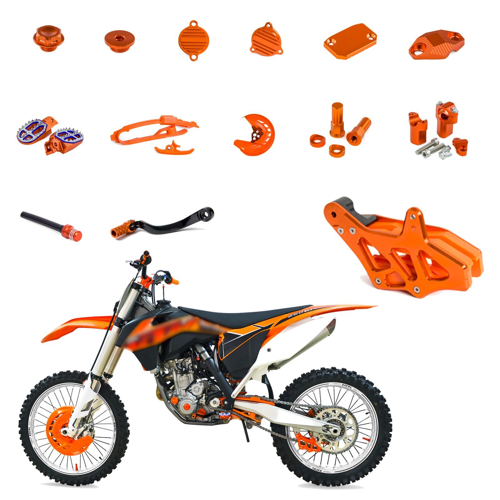 Motocycle CNC Refit High strength Full Eye catching Parts For KTM 250 EXC F XCF W