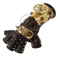 Gothic Steampunk Rivets Leather Arm Band Cuff Gloves Vintage Victorian Costume Prop