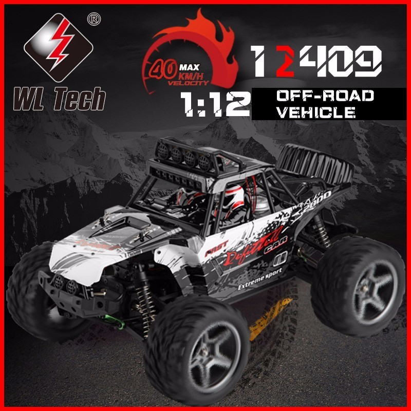 WLtoys 12409 Racing Car 1/12 4WD 2.4G Radio Remote Control High Speed Off-Road Bigfoot Climbing Truck With LED Light Outdoor Toy mini rc car 1 28 2 4g off road remote control frequencies toy for wltoys k989 racing cars kid children gifts fj88