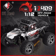 WLtoys 12409 Racing Car 1/12 4WD 2.4G Radio Remote Control High Speed Off-Road Bigfoot Climbing Truck With LED Light Outdoor Toy
