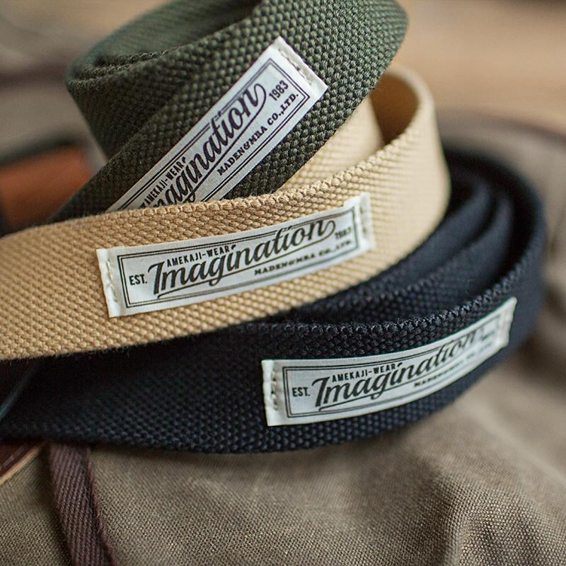 Maden Men's Vintage Canvas Web Tactical Belt With Double D-Ring Black Khaki Green