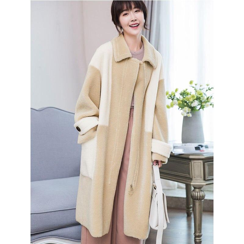 Automne Vêtements Hiver Coréen Daim Camel Manteau Zt923 De Femme Femmes Vintage Fourrure En 100Laine 2018 Doublure Veste Réel tsQxdrCh