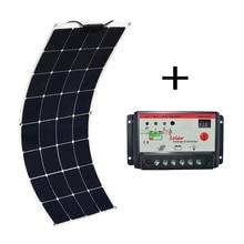 100w 18v photovoltaic off grid Solar Panel Monocrystalline Cell flexible pannelli solari Module 10A controller Sonnenkollektor
