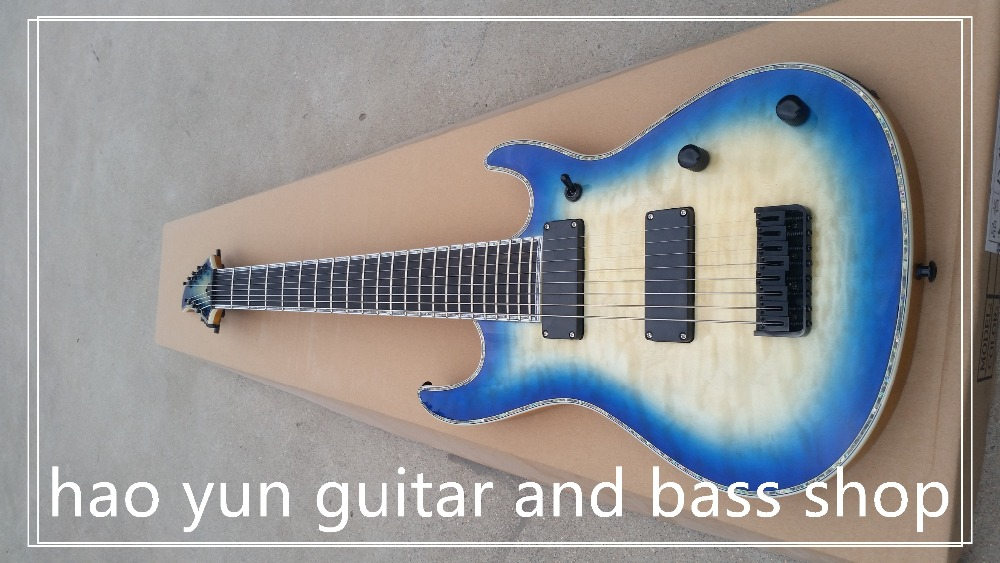 Ébène touche 22 fret guitare électrique belle et merveilleuse merci haute qualité fabricant Direct 8 cordes