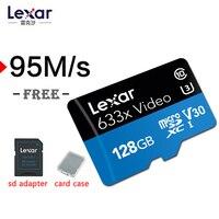 Lexar 95 МБ/с. tf micro sd 633x16 г 256 512 Gcards 32 Гб SDHC Class10 64G 128G карта памяти sd адаптер для Gopro DJI/nintendo переключатель