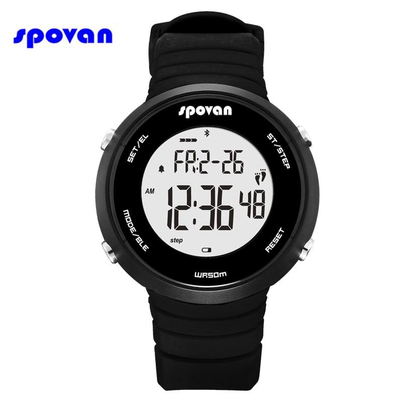 Reloj Hombre SPOVAN Смарт Bluetooth спортивные часы для мужчин шагомер счетчик калорий сообщение напоминание секундомер цифровые часы 2019
