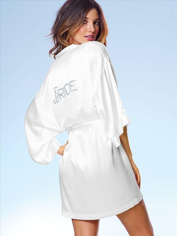 Plus Size White Silk Wedding Bride Robes Satin Kimono Robe for Women ...