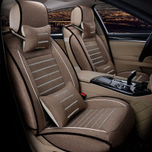 Flax car seat covers full surrounded seat for Toyota Volkswagen Suzuki Kia Mazda Mitsubishi Audi NISSAN seat cushion car styling недорого