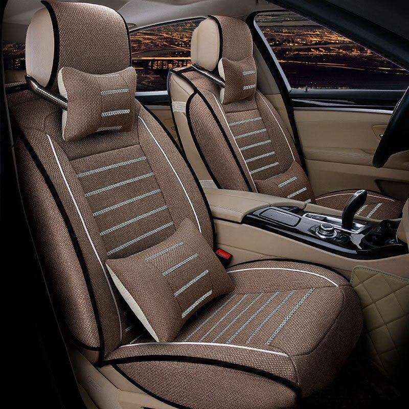 Housse de siège de voiture en lin pour Toyota Volkswagen Suzuki Kia Mazda Mitsubishi Audi NISSAN coussin de siège style de voiture